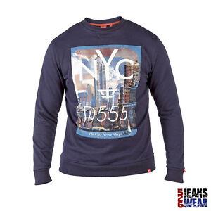 Sweatshirt 4xl D555 Col 5xl Grande 3xl Hommes Rond Imprimé Marque Taille 6xl WEH2D9I