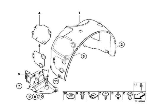 BMW NUOVO ORIGINALE Z4 E85 E86 Anteriore Destro Passaruota copertura accesso luci anteriori 7056402