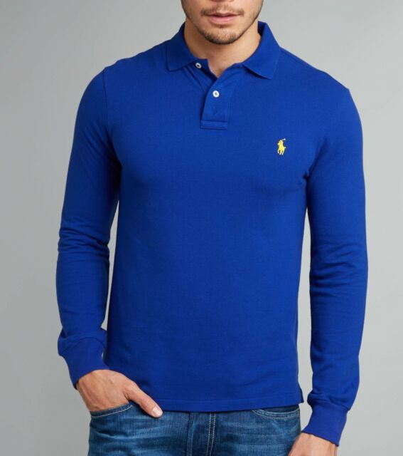 988128072 Custom Fit Small Pony Ralph Lauren Long Sleeve Rugby Polo T Shirt ...