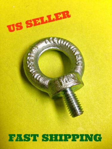 7//16 M10 Lifting Shoulder Type Machinery Eye Bolt Steel Zink Plated # 2452 Mesan