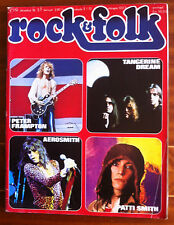 Rock & Folk n°119 du 12/1976; Peter Frampton/ Aerosmith/ Patti Smith/ Tangerine