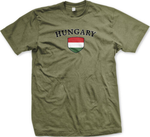 Hungary Flag Crest Hungarian Magyarország National Country Pride Mens T-shirt