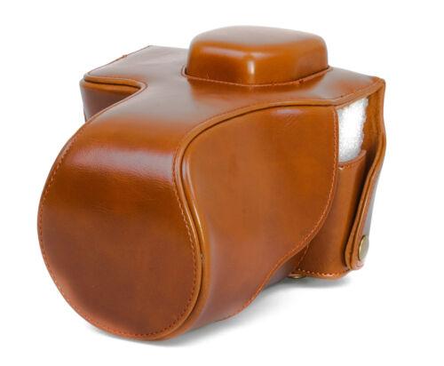 A7R Kunstleder Tasche braun CC1310c Kameratasche Etui für Sony Alpha A7