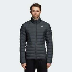 adidas Varilite Mens Down Jacket Green Full Zip Lightweight