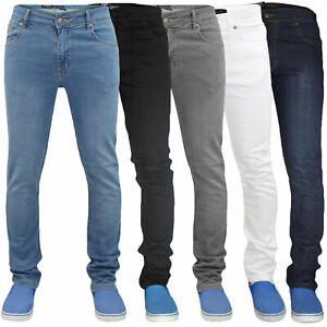 Mens-Skinny-Jeans-Denim-Super-Stretch-Slim-Fit-Casual-Pants-Trousers-All-Waist