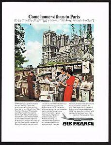 1964-Vintage-Air-France-Airline-Art-Print-Dealer-Stand-Photo-Print-Ad