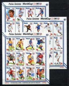36262) PALAU 1994 MNH** World Cup Football 36v (3 m/s)