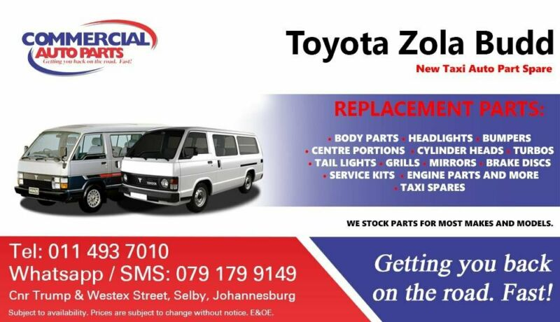 Toyota Hiace, Toyota Zola Budd Parts and Spares For Sale.
