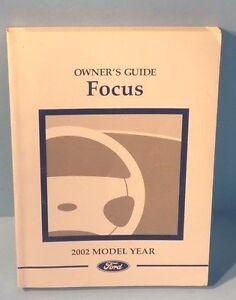 02 2002 ford focus owners manual ebay rh ebay com 2002 ford focus zx3 owners manual pdf 2002 ford focus owners manual online