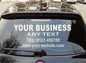 Personalised Business Rear Window Car Van Vinyl Signs Stickers - Personalised car window stickers