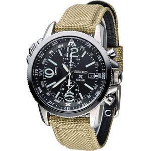 Seiko-Prospex-Solar-Military-Alarm-Chronograph-Men-039-s-Watch-SSC293P1