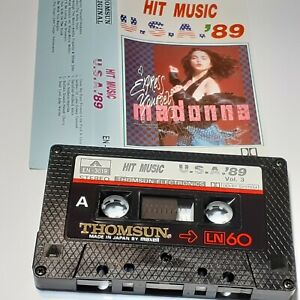 HIT-MUSIC-USA-89-VOL-3-THOMSUN-IMPORT-CASSETTE-TAPE-ALBUM-MADONNA-BANGLES-NENEH
