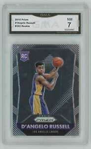 2015-16 Panini Prizm #322 D'Angelo Russell RC GMA 7 Nm