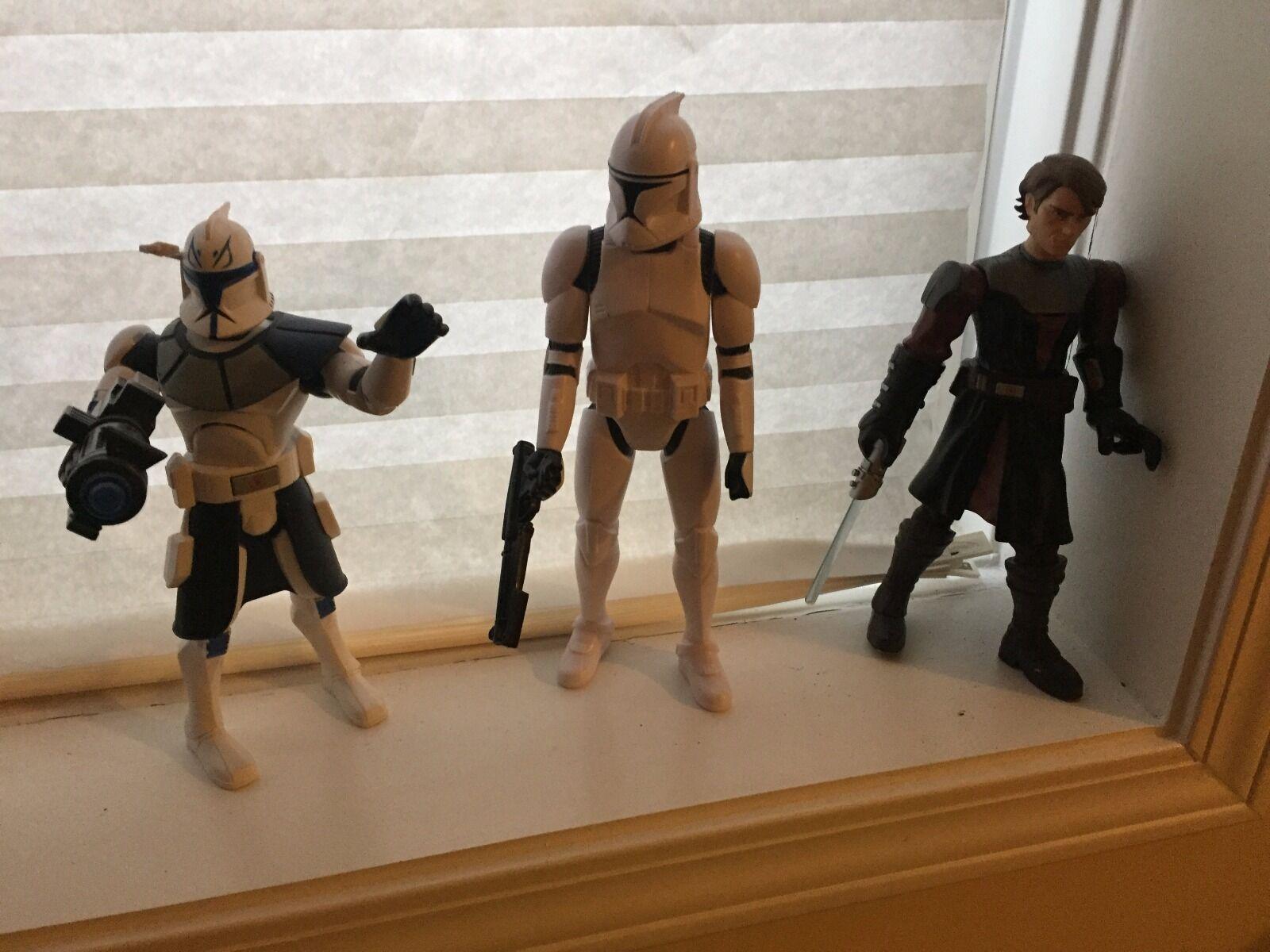 Star Wars Figures - Large - Anakin Skywalker and 2 Clone Troopers