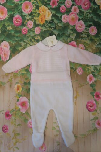 STUNNING KNITTING MINTINI BABY GIRL TWO PIECE 1 MONTH OR 3  MONTHS