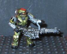 HALO Gold Grenadier M247H & backpack f/ Spade Mega Bloks megabloks blocks