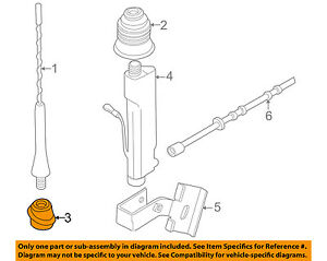 Details about BMW OEM 96-99 Z3-Antenna Mast Base 65218389698