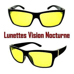 lunettes vision nocturne nuit verre jaune anti blouissement rectangle conduite ebay. Black Bedroom Furniture Sets. Home Design Ideas
