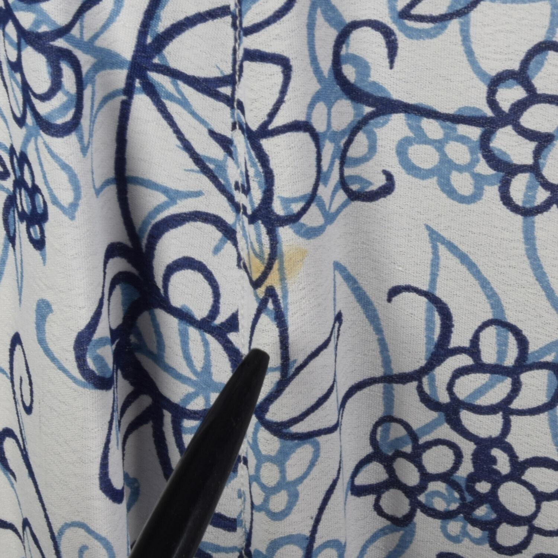 XS 1990s Blue White Maxi Skirt Bohemian Long Laye… - image 9