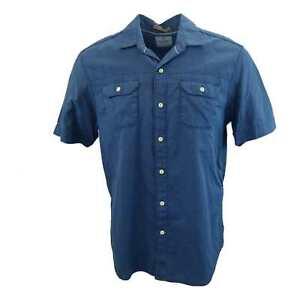 New-Men-039-s-Tommy-Bahama-Island-Double-Short-Sleeve-Camp-Shirt-Lake-Blue-Large
