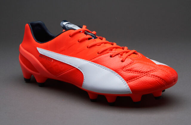 Puma evoSPEED 1.4 LTH FG Lava Blast/ White/ Total Eclipse Cleat Soccer Shoes