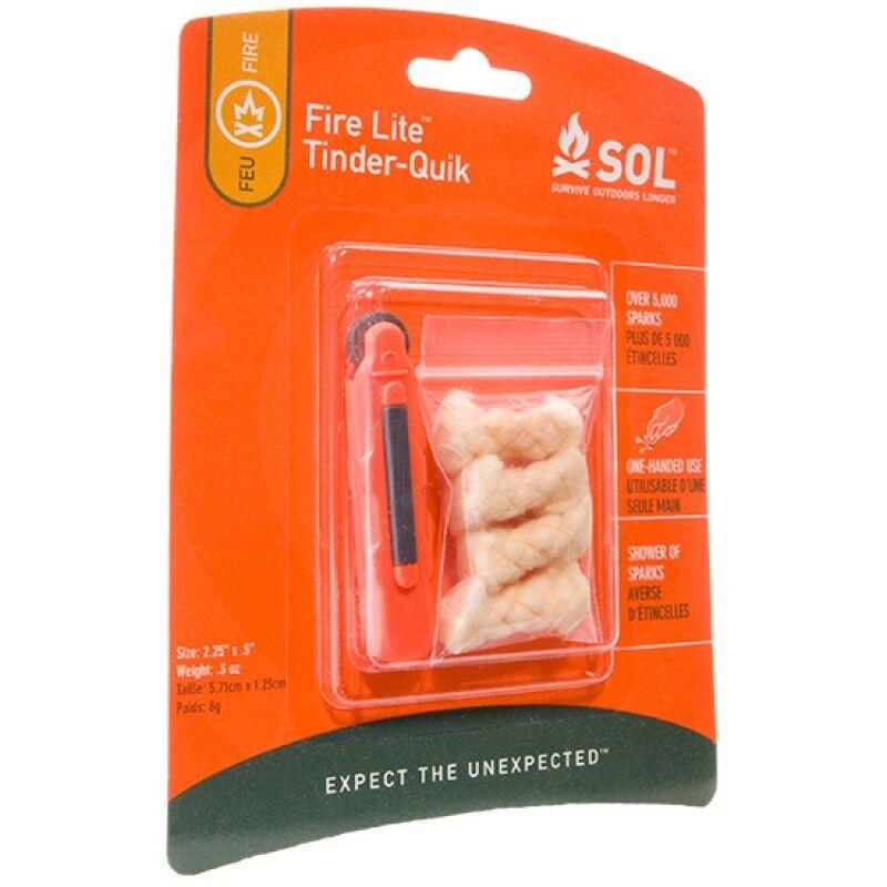 Survive Outdoors Longer ® (Sol) incendie Lite Lite Lite Amadou-Quik-Sparker & AMADOU f49648