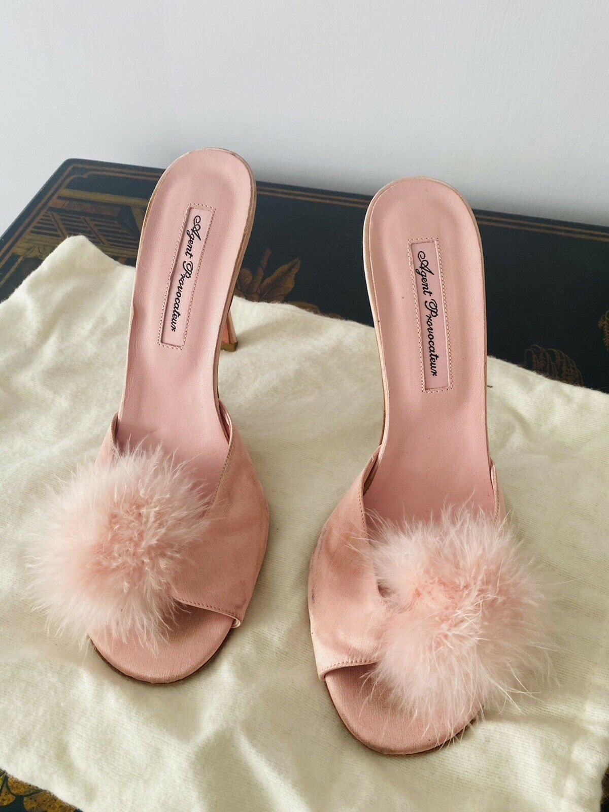 Gorgeous Agent Provocateur Feather Pink Mule 38
