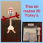 20 Make Your Own Forky Toy Story 4 Birthday Party Favor Craft Class Treat