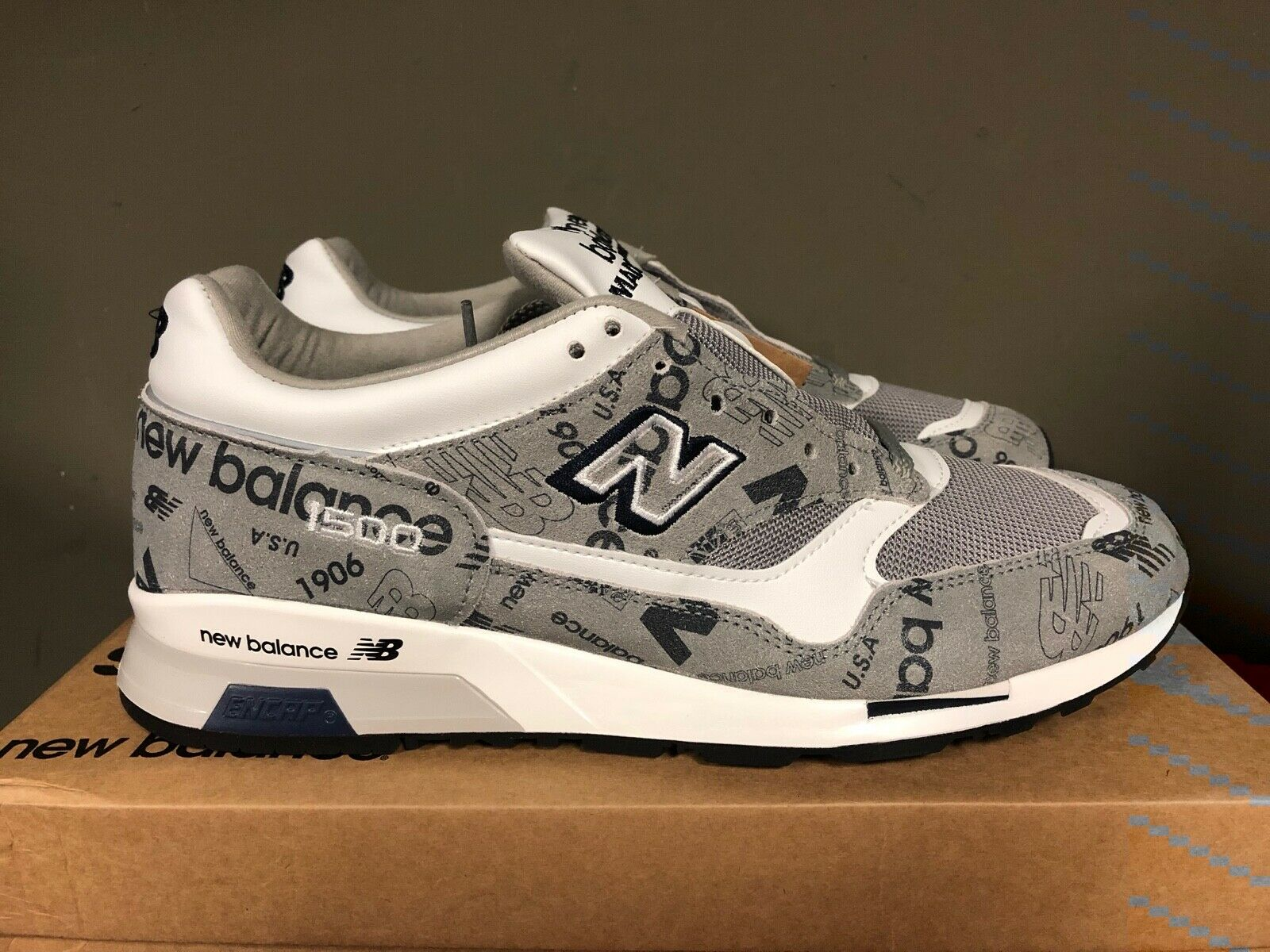 Mens New Balance M1500 D Grey White Navy Running shoes M1500NBG NEW