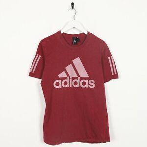Vintage-ADIDAS-Big-Logo-T-Shirt-Tee-Red-Medium-M