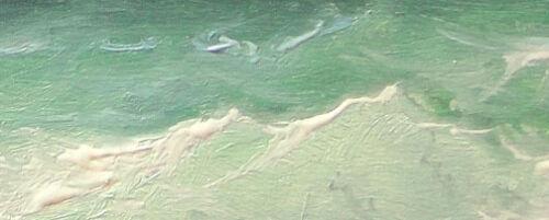 375-5x7 CANVAS GICLEE FINE ART PRINT SEASCAPE Mesh BLACK SEA Storm Green Wave