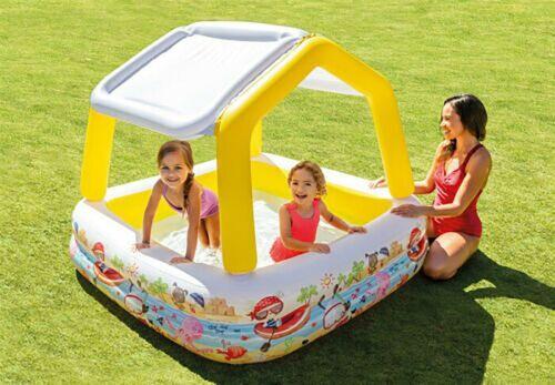 Intex Sun Shade Children/'s paddling Pool Childrens Splash Pool