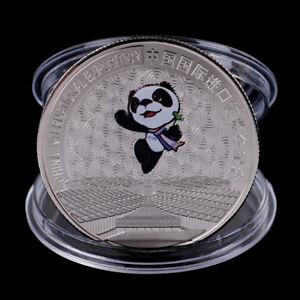 China-Internationale-Ausstellung-Gedenkmuenze-Panda-Muenze-Silber-ueberzogenesFYT