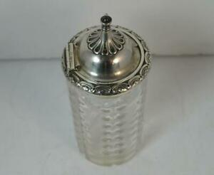 1856-Victorian-Solid-Silver-and-Glass-Sugar-Caster-Castor