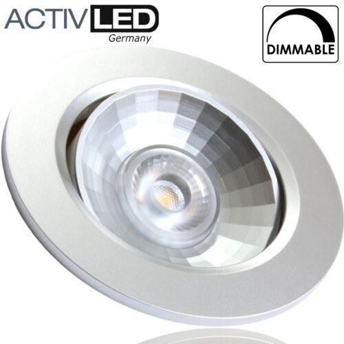 1x LED Deckeneinbauleuchte dimmbar und schwenkbar 230V 3000K Einbauspot