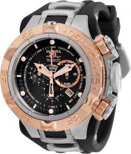 New-Invicta-Men-039-s-12880-Subaqua-Noma-V-SWISS-MADE-Chronograph-Black-Rubber-Watch