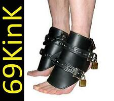 S89 Heavy Duty Lockable Pony Hoofs Leatherette Cuffs Fancy Dress