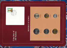 Coin Sets of All Nations Korea all 1983 but 500 Won 1984 UNC w/card