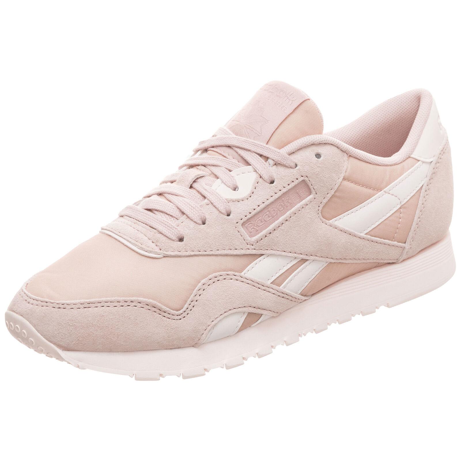 Reebok Classic Leather Nylon Turnschuhe Damen Beige NEU Schuhe Turnschuhe