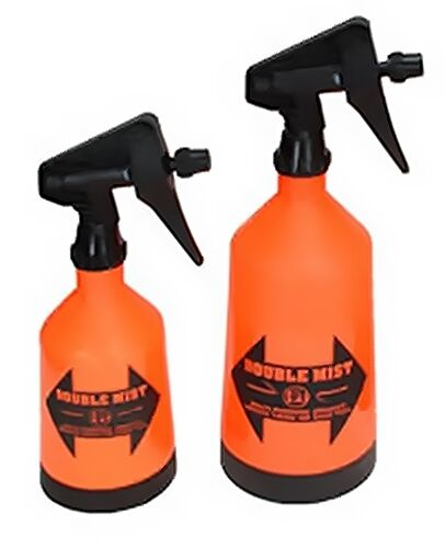 DOUBLE MIST SPRAYER BOTTLES Wide Base Adjustable Nozzle 1 Liter