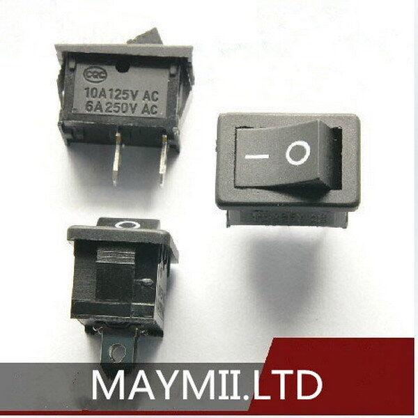 10pcs NEW Black Rocker Switch KCD1-101 250V 6A Boatlike Switch 2PIN LT00321-B
