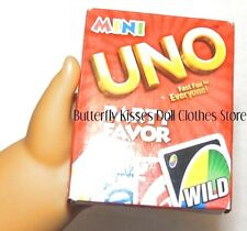 Mini Uno Playing Card Game Clothes Accessory For 18 in American Girl Dolls
