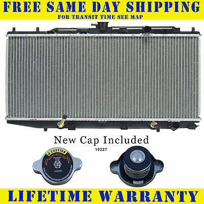 Radiator With Cap For 1988-1991 Honda Civic CRX L4 1.5L 1.6L 4CYL Fast Shipping