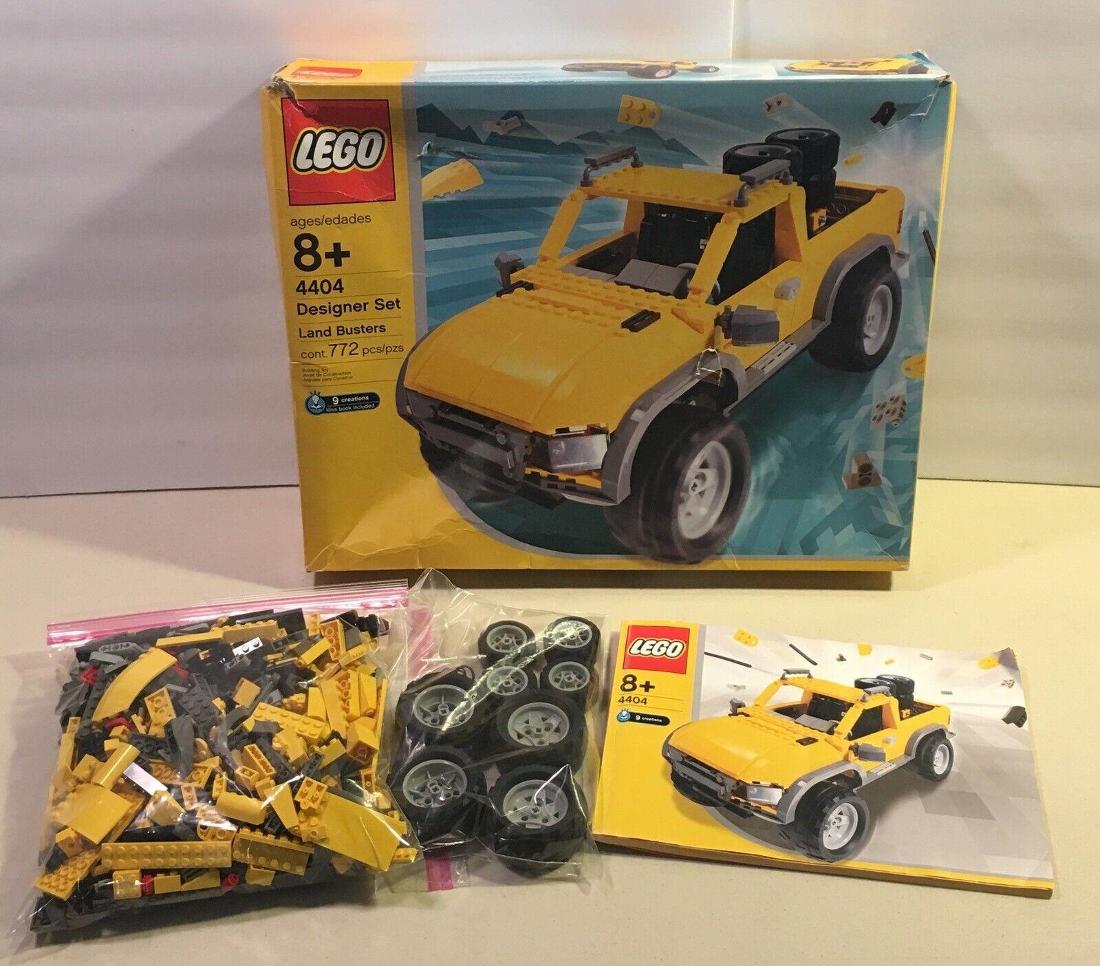 Lego 4404 Creator Diseñador Conjunto Tierra dos horas 2003 Caja Completa Manual
