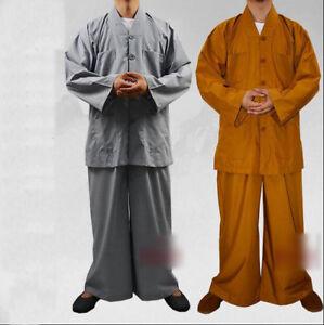 07db6b620 7617 Buddhist Monk Casual Uniform Kung Fu Training Suit Martial arts ...