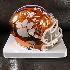 DJ Uiagalelei Signed Clemson Tigers Chrome Mini Helmet Autographed Auto PSA COA