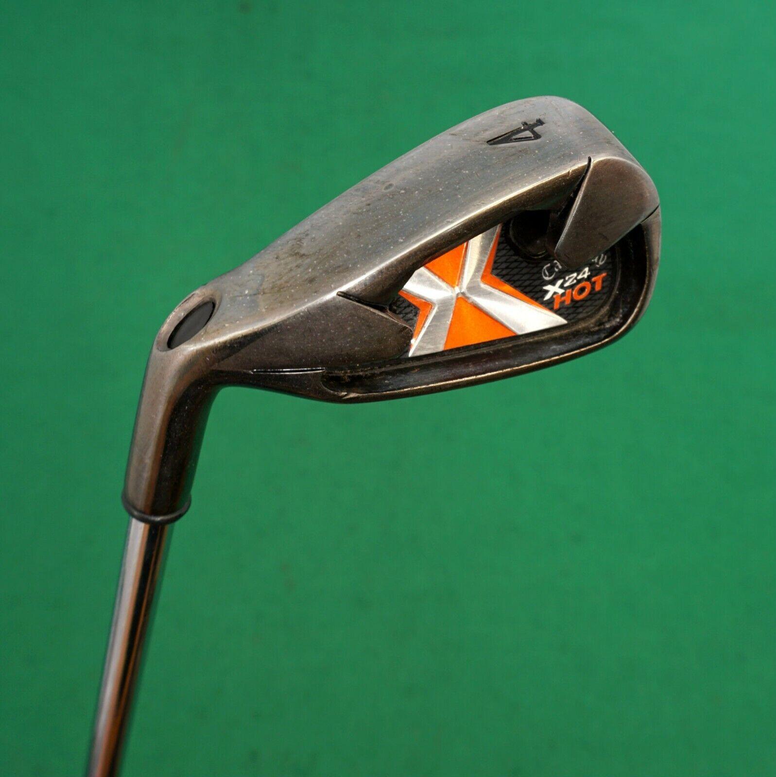 Left Handed Callaway X24 Hot 4 Iron Regular Steel Shaft Tabor Grip
