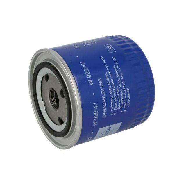 W 920//47 Filtro de aceite filtro Mann-Filter