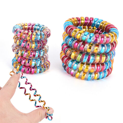 5x Elastic Telephone Wire Cord Head Ties Hair Band Rope Ponytail Jewelry Ring AS