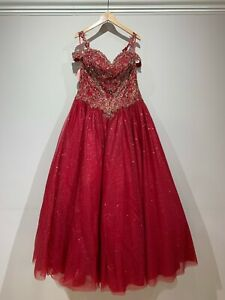 red quinceanera dress ball gown
